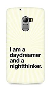 AMEZ daydreamer and night thinker Back Cover For Lenovo K4 Note