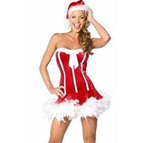 Xmas Christmas Costume Sexy Red Santa