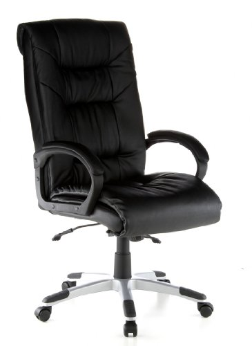 Executive Chair / Office Chair PRESIDENT SOFT Black Leather