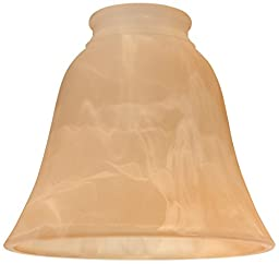 Ellington 635AMA Alabaster Bell Shaped Ceiling Fan Glass Shade with 2 1/4\