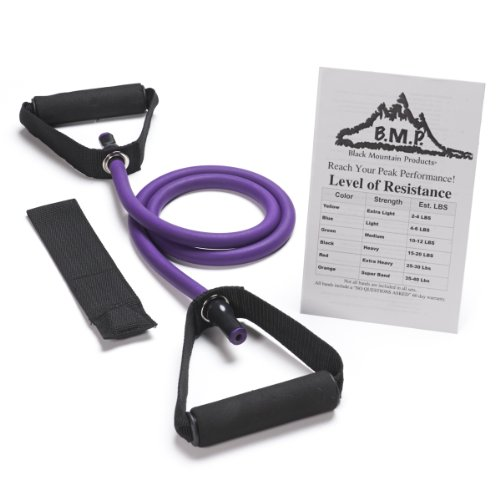 Single Resistance Band with Door Anchor and Starter Guide, 4