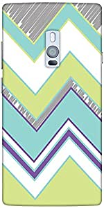 Snoogg Zig Zag design 2368 Hard Back Case Cover Shield For Oneplus Two