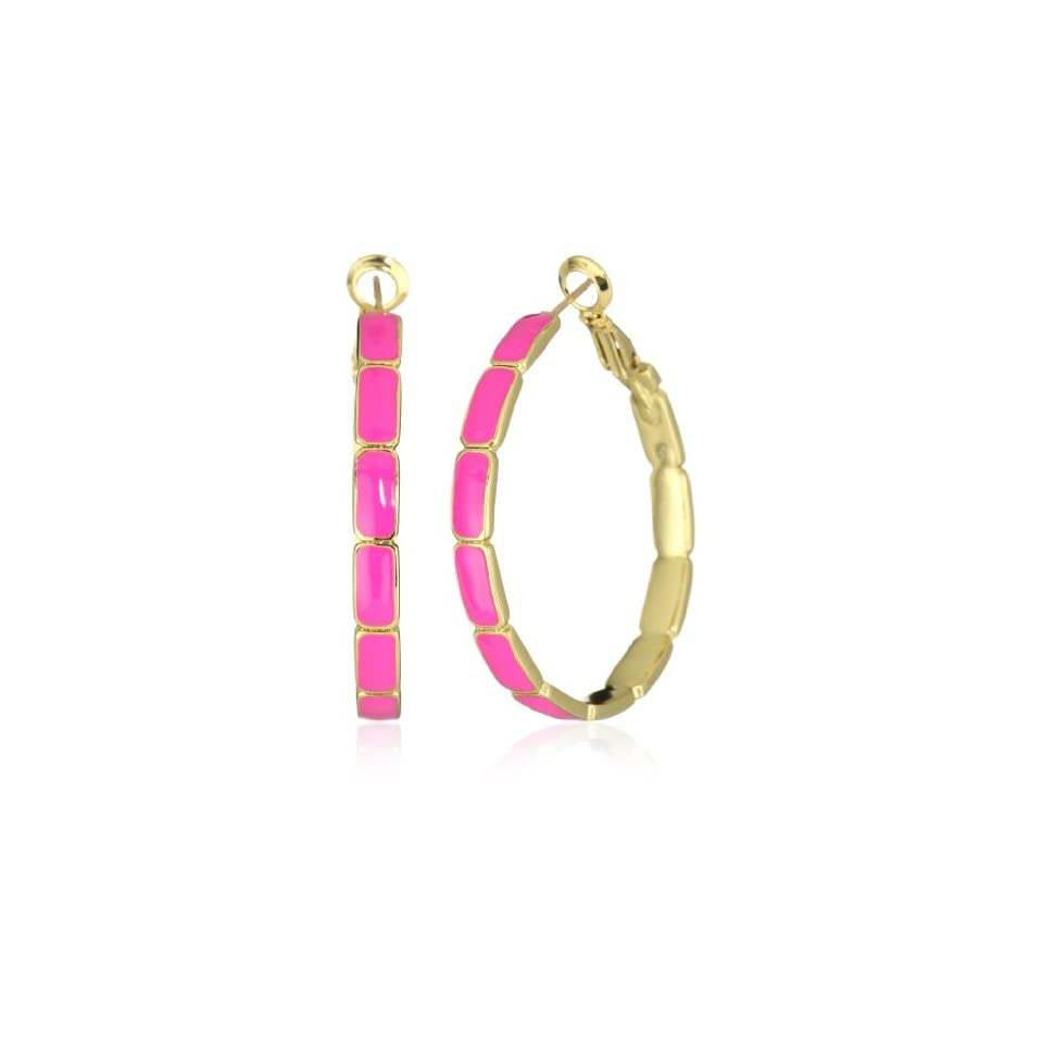 Kate Spade New York Park Guell Pink Hoops Earrings