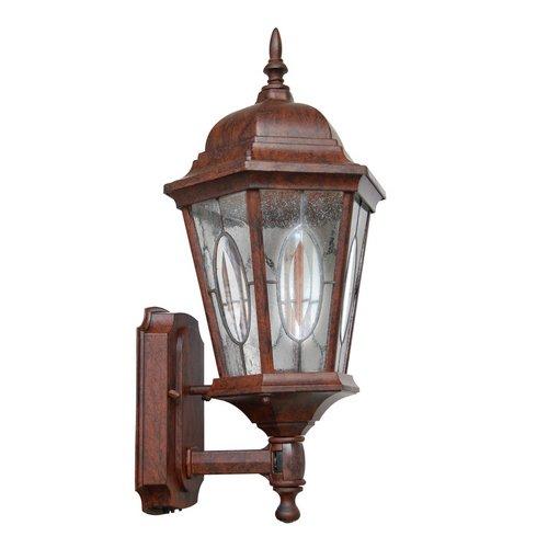 deals for portfolio outdoor motion activated wall lantern bronze finish cast aluminum clear. Black Bedroom Furniture Sets. Home Design Ideas