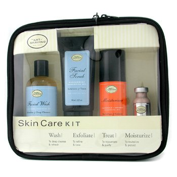 Skincare Kit ( For Sensitive Skin ): Facial Wash + Facial Scrub + Moisturizer + After Shave Mask