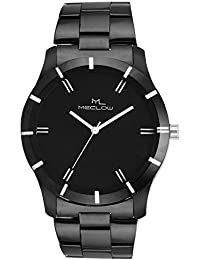 Latest Designer Fashionable Black Metal Strap Watch Round Black Dial Watch Casual / Formal / Party Wear Watches...