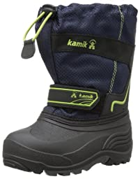Kamik Footwear Kids Coaster Insulated Boot (Toddler/Little Kid/Big Kid),Navy,10 M US Toddler