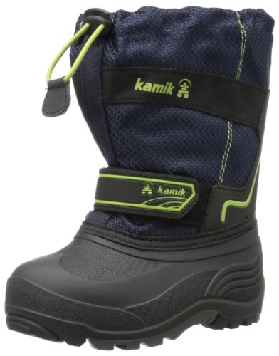 Kid's Coaster Snow Boots by Kamik in Navy