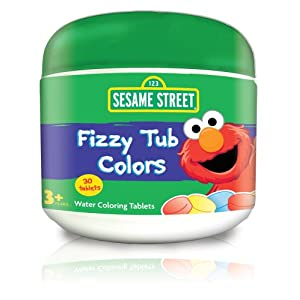 Sesame Street Fizzy Tub Colors 24 Count