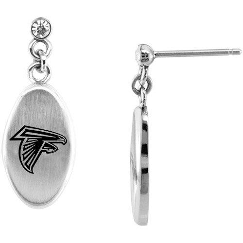 Team Titanium Atlanta Falcons Steel Earrings with Cubic Zirconia Accent