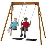 Plum Wooden Double Swing Set