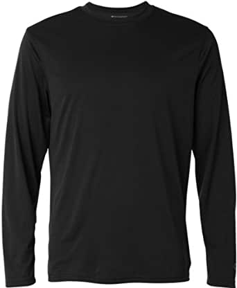 CHAMPION Double Dry Long Sleeve Tee - CW26 - Black, X-Small