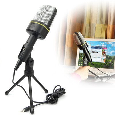 Ckeyin 3.5 Mm Stereo Condenser Microphone With Mic Stand Mount For Laptop Pc Skype Msnckeyin 3.5 Mm Stereo Condenser Microphone With Mic Stand Mount For Laptop Pc Skype Msn