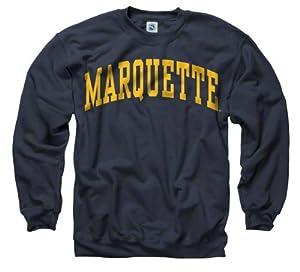 Marquette Golden Eagles Navy Arch Crewneck Sweatshirt
