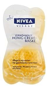 Nivea 84723 Verwöhnende Honigcrememaske, 2 x 7,5 ml