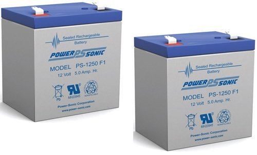 12V 5Ah Arjo Chair Lift Sla Replacement Battery - 2 Pack