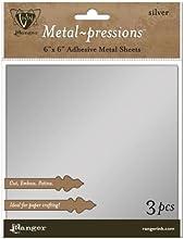 Ranger Vintaj Silver Foil Sheet 6 by 6-Inch 3 Per Package