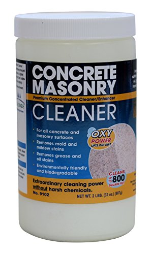 Seal once 9102 white concrete masonry cleaner 2 lb for Environmentally friendly concrete cleaner