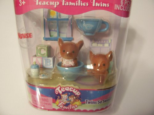 "Teacup Families Twins ""MacCheez Mouse Twins"" - 1"