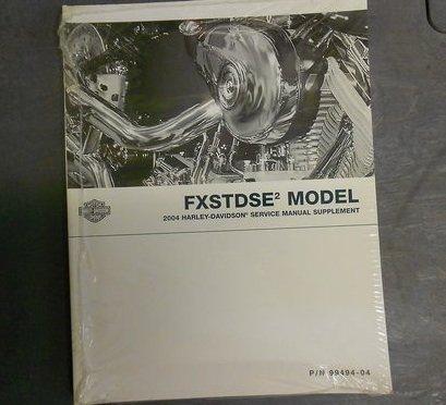 2004 Harley Davidson Fxstdse2 Service Repair Shop Manual Supplement New 04