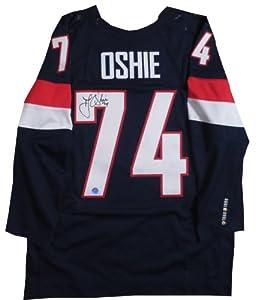 T.J. Oshie Autographed Team USA Olympic Hockey Signed Nike Jersey - OSHIE HOLOGRAM