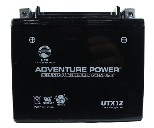 UPG UTX12 Adventure Power Power Sport AGM Series Sealed AGM Battery