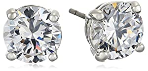 "CZ by Kenneth Jay Lane ""Classics Collection"" 4cttw Round Cubic Zirconia Classic Post Stud Earrings"