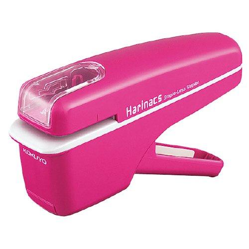 コクヨ S&T  針なしステープラー(ハリナックス)ハンディタイプ ピンク