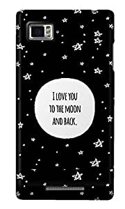 The Fappy Store To-the-moon Back Cover for Lenovo K910