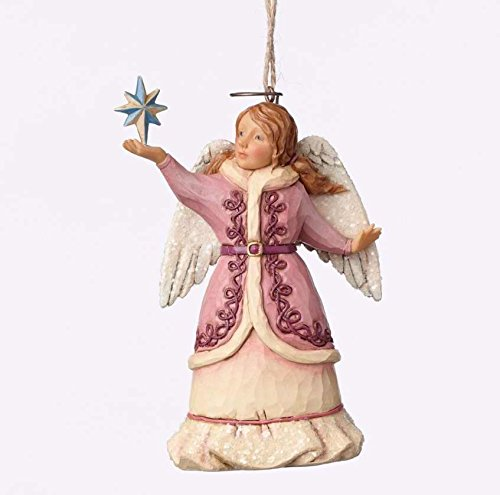 Jim Shore for Enesco Heartwood Creek Victorian Angel Ornament, 4.875