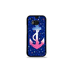 Krazycases Pink With White Anchor Back Shell Cover For HTC One M8