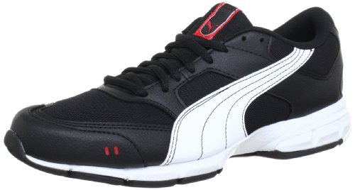 Puma Runner 186272, Herren Laufschuhe, Schwarz (black-white-puma red 09), EU 44 (UK 9.5) (US 10.5)