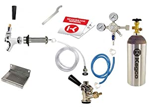 Kegco Deluxe Door Mount Kegerator Conversion Kit with 5 lb. Co2 Tank EBDCK-5T