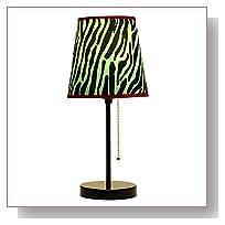 Limelights LT3000-ZBA Fun Prints Table Lamp, Black/Zebra