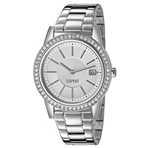 Esprit es106112001 36mm Silver Steel Bracelet & Case Mineral Women's Watch