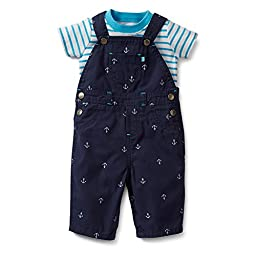 Carter\'s Baby Boys\' 2 Piece Overalls Set (Baby) - Blue - Newborn