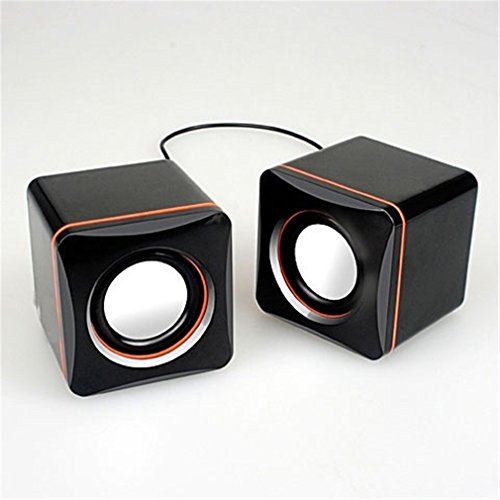 YouthCamp-SJHT171-USB-Powered-High-fidelity-Acoustics-System-Dual-Stereo-Speakers-Works-with-PC-Apple-MAC-Dell-HP-CybertronPC-Desktops-Laptops-Gaming-Black