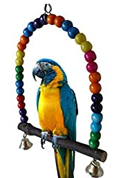 Yosoo Colorful Pet Bird Parrot Swing Toy Wooden Rat Mouse Hamster Hanging Toy Hammock Toys Station Rack
