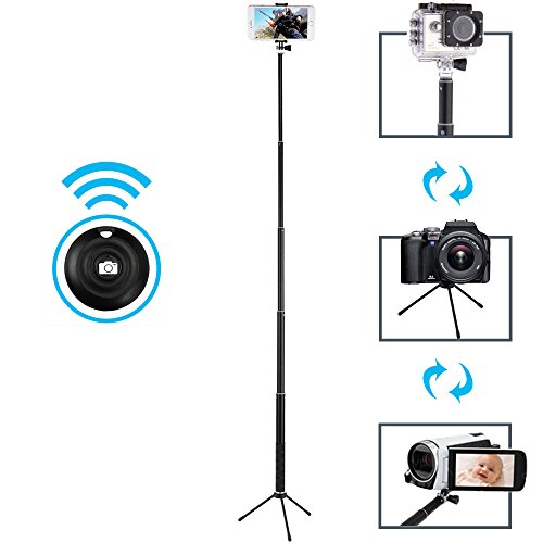 maono selfie stick with bluetooth remote and tripod portable waterproof monopod for gopro. Black Bedroom Furniture Sets. Home Design Ideas