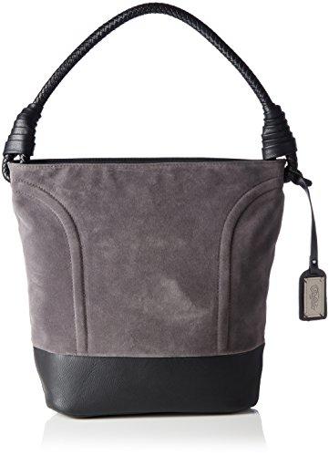 Buffalo-Damen-Bag-W15-089-Imi-Suede-PU-Henkeltaschen-Grau-Grey-05-28x32x17-cm