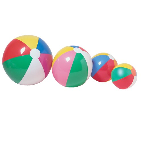 "One Inflatable Beach Ball 12"" Party Supplies"