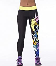 iSweven ghost roaming Design Printed Polyester Multicolor Yoga pant Tight legging for womens girls