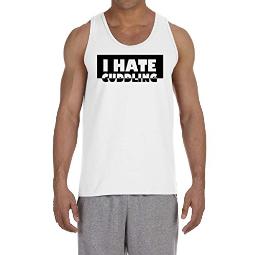 i-hate-cuddling-black-and-white-slogan-mens-tank-top-t-shirt-large
