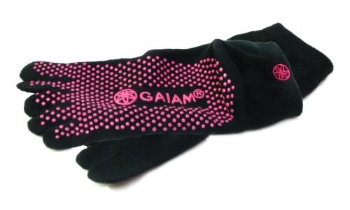Gaiam All Grip Yoga Socks Pink Dots,  Small/Medium