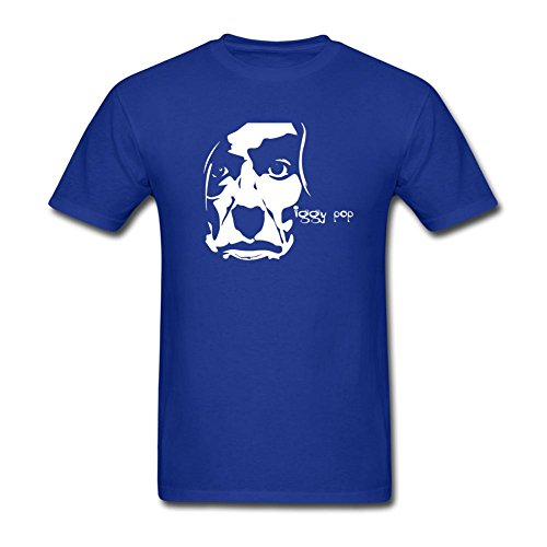Danielrauda men 39 s iggy pop short sleeve t shirt royal blue for Iggy pop t shirt amazon