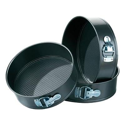 Premier Housewares Spring Form Cake Tins - Set of 3 - Black