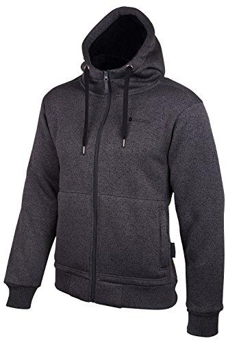 mountain-warehouse-nevis-mens-fur-lined-insulating-full-zip-pockets-adjustable-hoodie-black-medium
