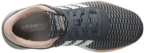 Adidas NEO Women's Cloudfoam Race W Running Shoe, Onix/White/Vapor Pink F16, 7.5 M US
