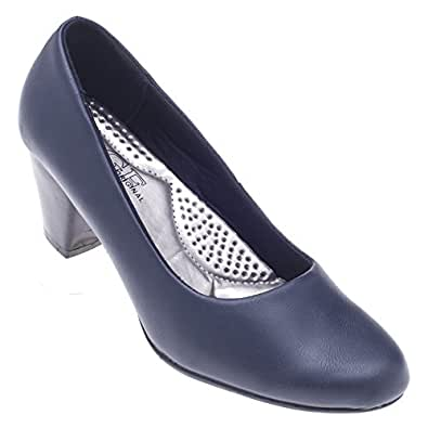 womens dress shoes navy blue pu shoes
