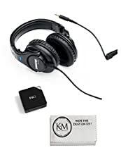 Shure SRH440 Professional Studio Headphones (Black) with FiiO E6 Headphone Amplifier